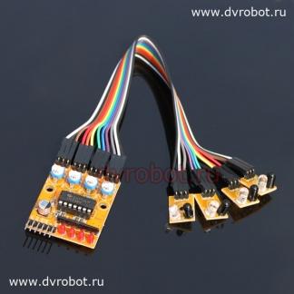 Модуль слежения линии - 4 (ID:243)